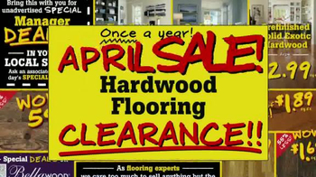 Lumber Liquidators April Sale TV Spot, 'Historic Deals'