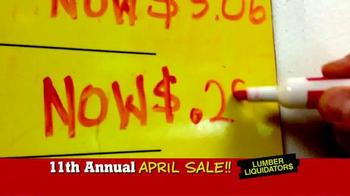 Lumber Liquidators April Sale TV Spot, 'Historic Deals' - Thumbnail 8