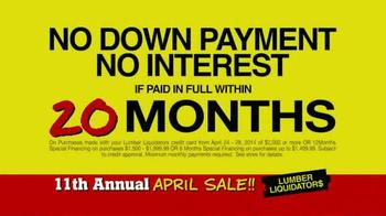 Lumber Liquidators April Sale TV Spot, 'Historic Deals' - Thumbnail 9