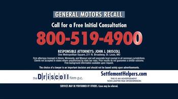 The Driscoll Firm TV Spot, 'GMC Recall' - Thumbnail 7
