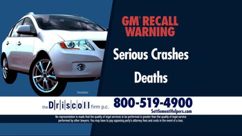 The Driscoll Firm TV Spot, 'GMC Recall'