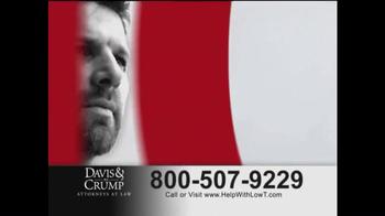 Davis & Crump, P.C. TV Spot, 'Low T' - Thumbnail 1