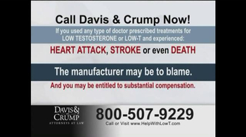 Davis & Crump, P.C. TV Spot, 'Low T' - Thumbnail 5