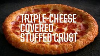Pizza Hut Triple-Cheese Covered Stuffed Crust Pizza TV Spot, 'Get It Now'