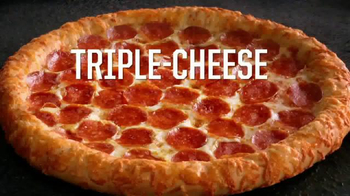 Pizza Hut Triple-Cheese Covered Stuffed Crust Pizza TV Spot, 'Get It Now' - Thumbnail 3