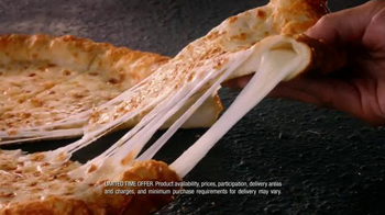 Pizza Hut Triple-Cheese Covered Stuffed Crust Pizza TV Spot, 'Get It Now' - Thumbnail 7