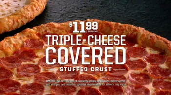 Pizza Hut Triple-Cheese Covered Stuffed Crust Pizza TV Spot, 'Get It Now' - Thumbnail 8