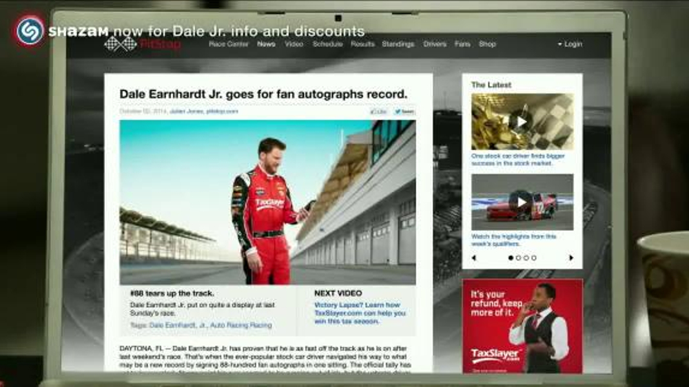 TaxSlayer.com TV Commercial, 'Bigger Than IRS Refund' Feat. Dale Earnhardt Jr.