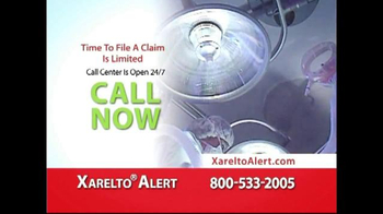 Xarelto Alert Helpline TV Spot, 'Serious Bleeding' - Thumbnail 5
