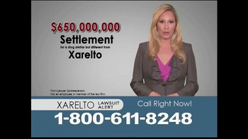 Consumer Attorney Marketing Group TV Spot, 'Xarelto' - Thumbnail 1