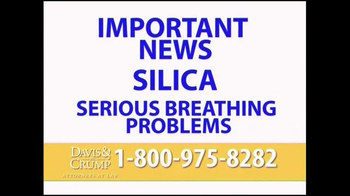Davis & Crump, P.C. TV Spot, 'Silica Breathing Problems' - Thumbnail 1