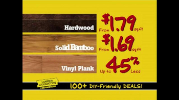 Lumber Liquidators TV Spot, 'Done for Less' - Thumbnail 5