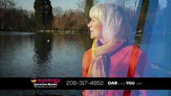 The Synergy Study TV Spot, 'Overactive Bladder' - Thumbnail 1