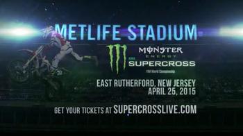 Monster Energy Supercross TV Spot, '2015 New Jersey: Metlife Stadium' - Thumbnail 10