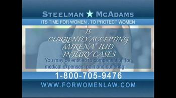 Steelman and McAdams TV Spot, 'Mirena IUD Warning'
