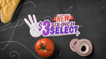 Subway $3 Six-Inch Select TV Spot