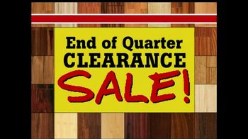 Lumber Liquidators End of Quarter Clearance Sale TV Spot
