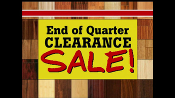 Lumber Liquidators End of Quarter Clearance Sale TV Spot