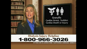 Weitz and Luxenberg TV Spot, 'Dialysis Injury' - Thumbnail 1