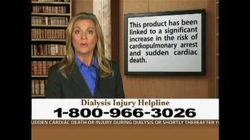 Weitz and Luxenberg TV Spot, 'Dialysis Injury' - Thumbnail 3