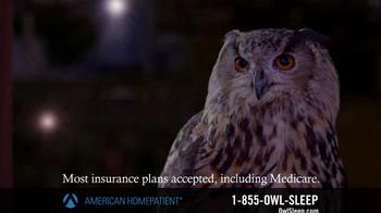 American HomePatient TV Spot, 'Owl Sleep' - Thumbnail 8