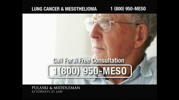 Pulaski & Middleman TV Spot, 'Government Study: Lung Cancer & Mesothelioma' - Thumbnail 7