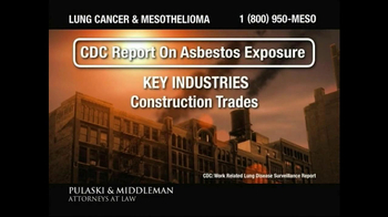 Pulaski & Middleman TV Spot, 'Government Study: Lung Cancer & Mesothelioma' - Thumbnail 2
