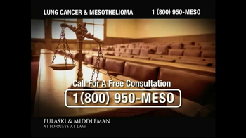 Pulaski & Middleman TV Spot, 'Government Study: Lung Cancer & Mesothelioma' - Thumbnail 4