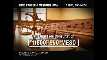 Pulaski & Middleman TV Spot, 'Government Study: Lung Cancer & Mesothelioma' - Thumbnail 5