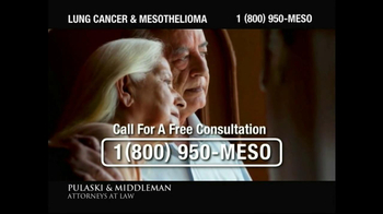 Pulaski & Middleman TV Spot, 'Government Study: Lung Cancer & Mesothelioma' - Thumbnail 6