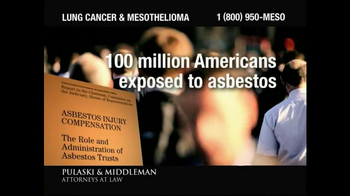 Pulaski & Middleman TV Spot, 'Lung Cancer and Mesothelioma'  - Thumbnail 2