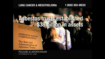 Pulaski & Middleman TV Spot, 'Lung Cancer and Mesothelioma'
