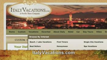 ItalyVacations.com TV Spot, 'Your Italy, Your Way' Feat. Steve Perillo - Thumbnail 4