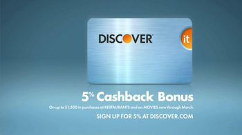 Discover Card TV Spot, 'Cash Back at Restaurants' Song by Of Monsters & Men - Thumbnail 7
