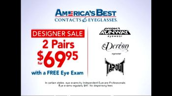 America\'s Best Contacts and Eyeglasses TV Spot \'Designer Sale\'
