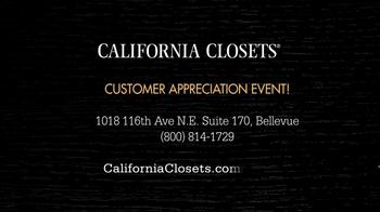 California Closets Customer Appreciation Event TV Spot - Thumbnail 7