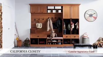 California Closets Customer Appreciation Event TV Spot - Thumbnail 3