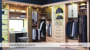 California Closets Customer Appreciation Event TV Spot - Thumbnail 4