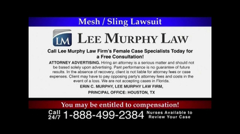 Lee Murphy Law TV Spot, 'Mesh/Sling Lawsuit' - Thumbnail 6