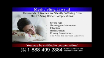 Lee Murphy Law TV Spot, 'Mesh/Sling Lawsuit' - Thumbnail 2
