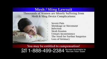 Lee Murphy Law TV Spot, 'Mesh/Sling Lawsuit' - Thumbnail 3
