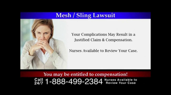 Lee Murphy Law TV Spot, 'Mesh/Sling Lawsuit' - Thumbnail 4