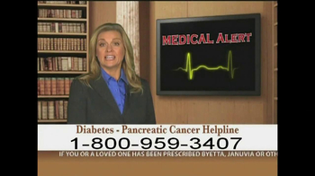 Weitz and Luxenberg TV Spot, 'Diabetes, Pancreatic Cancer' - Thumbnail 1