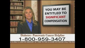 Weitz and Luxenberg TV Spot, 'Diabetes, Pancreatic Cancer' - Thumbnail 7