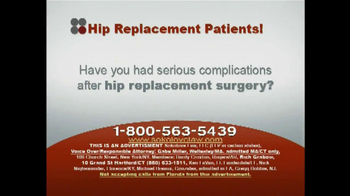 Sokolove Law TV Spot, 'Hip Replacement' - Thumbnail 1
