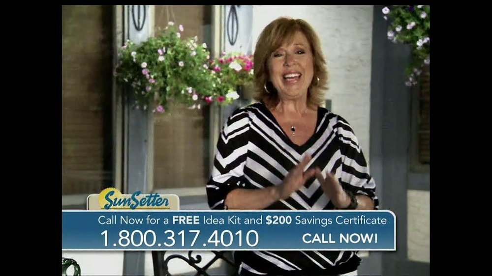 Sunsetter Tv Commercial Featuring Joan Steffend Ispot Tv
