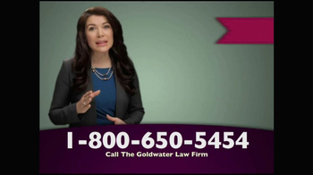 Goldwater Law Firm TV Spot, 'Transvaginal Mesh Implants Recalled' - Thumbnail 1