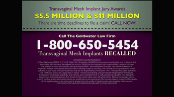 Goldwater Law Firm TV Spot, 'Transvaginal Mesh Implants Recalled' - Thumbnail 10