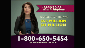 Goldwater Law Firm TV Spot, 'Transvaginal Mesh Implants Recalled' - Thumbnail 5
