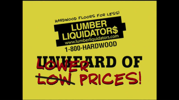 Lumber Liquidators Laminate Flooring Sale TV Spot, 'Lower Prices'  - Thumbnail 1
